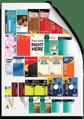 Combination-run blister cards